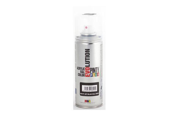 Pintura spray acrilica evolution 270 cc ral9005 negro mate