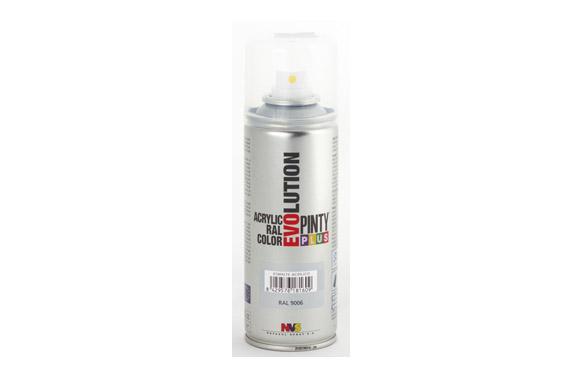 Pintura spray acrilica evolution 270 cc ral9006 plata brillo
