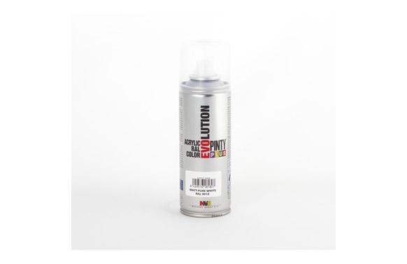 Pintura spray acrilica evolution 270 cc ral9010 blanco mate