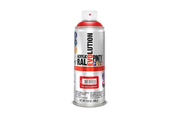 Pintura spray acrilica evolution 520 cc ral 3000 rojo brillo