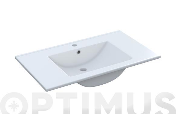 Lavabo ceramico 80x45-blanco