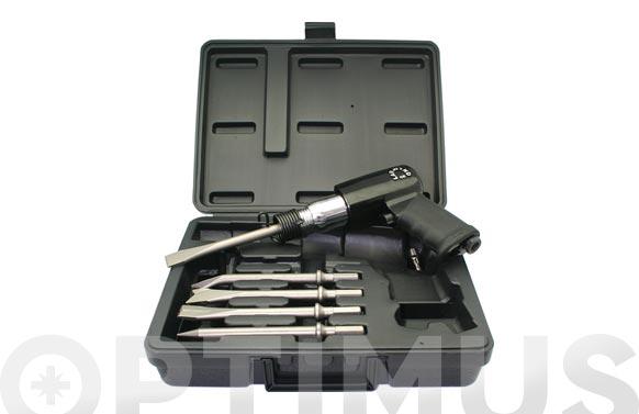 Martillo cincelador neumatico kit con 5 punteros 10 mm hexagonal