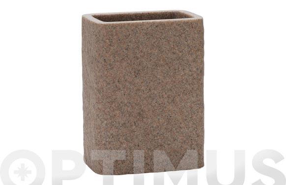 Vaso rectangular sand 8 x 5,5 x 10,5 cm