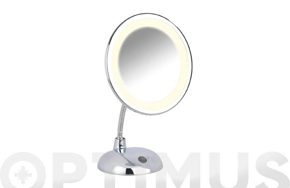 Espejo pie flex style cromado aumento x3