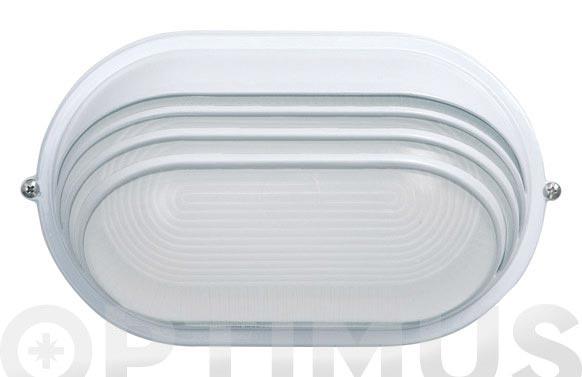 Aplique exterior oval blanco e27