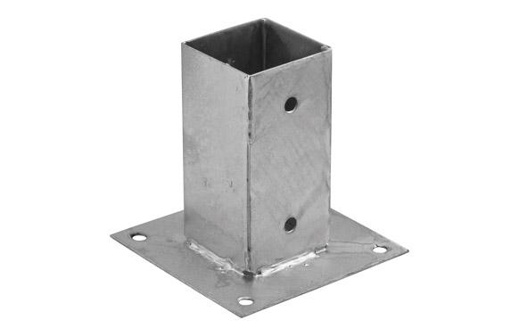Pletina cuadrada base plana 71 x 150 x 150 mm
