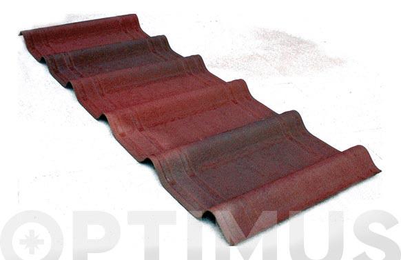 Placa teja onduvilla roja 106x40 cm (7 unid/2.17m2)