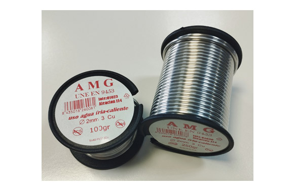 Estaño plata 3,5% 100 gr ø 2 mm aleacion 114
