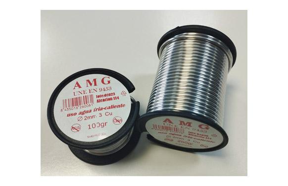 Estaño plata 3,5% 250 gr ø 2 mm aleacion 114