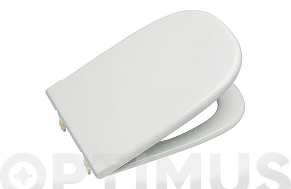Tapa wc dama redonda blanca bisagra cromada 45,0 x 32,7 cm