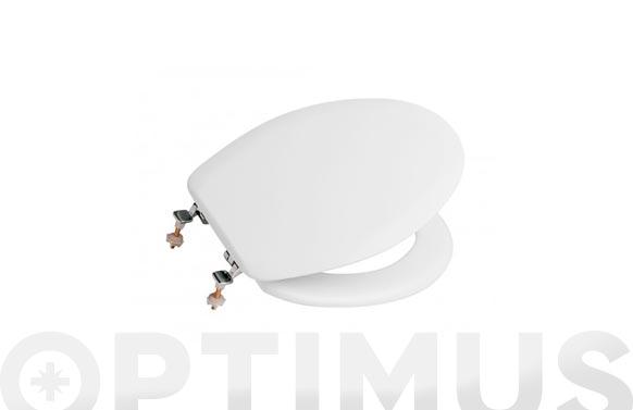 Tapa wc lorentina blanca bisagra cromada