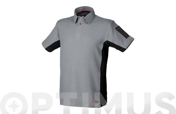 Polo stretch gris t. l