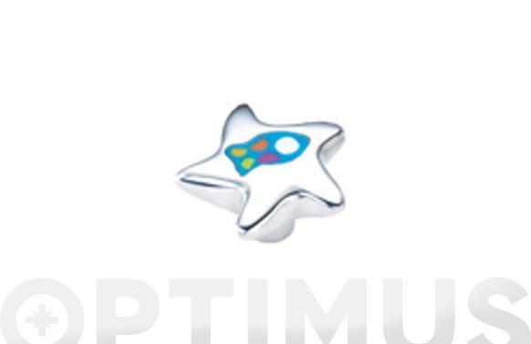 Pomo aluminio resina estrella pez