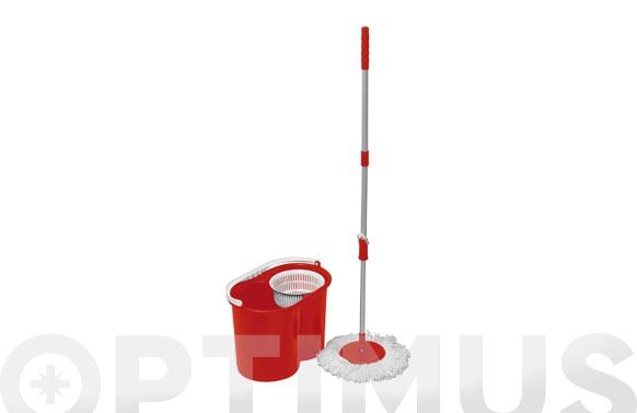 Cubo fregar centrifugo rojo 10 l