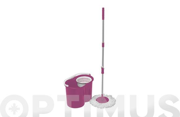 Cubo fregar centrifugo lila 10 l