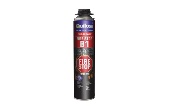 Espuma poliuretano orbafoam fire stop pistola 750 ml