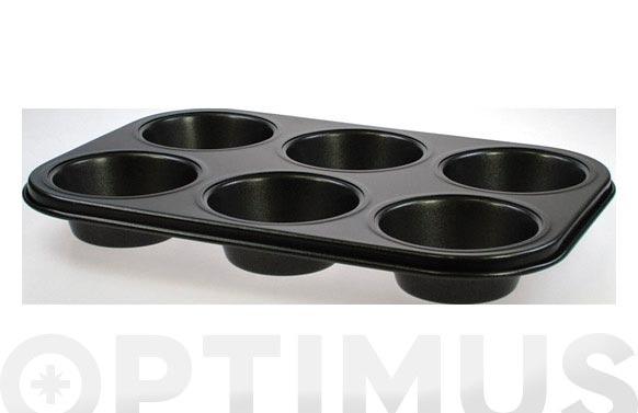 Molde metal muffins 6 cavidades