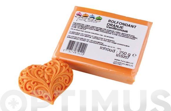 Fondant color 250 gr naranja