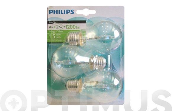 Lampara estandard ecoclassic 70w 3 unidades e27-1200lm