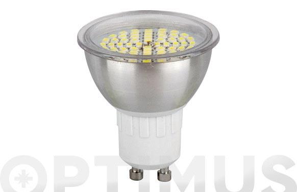 Led dicroica smd alum 120 gu10 3,5w luz calida (3500k)