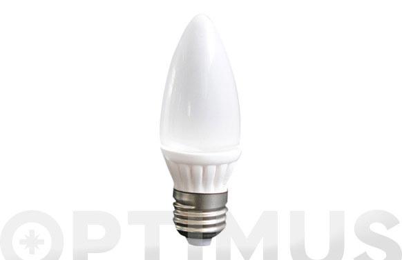 Bombilla vela smd ceramica 3w e14 220lm luz calida (3500k)