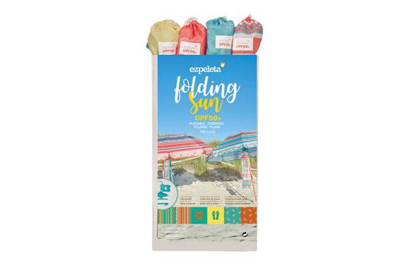Parasol sombrilla playa plegable mini ø 180 cm colores surtidos upf50+