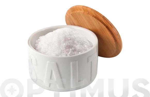 Bote para sal en escamas ceramica bambu