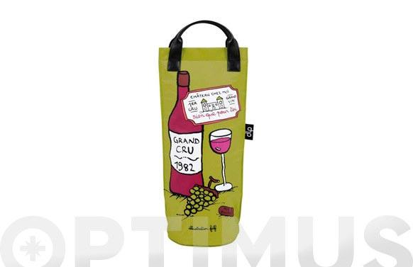 Botellero iso con asas disseny vino