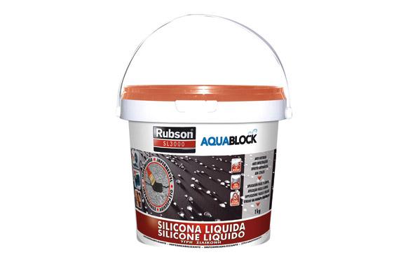 Impermeabilizante silicona liquida aquablock sl3000 1 kg teja
