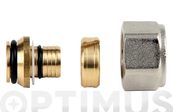 Racor compresion p/tubo multi 16 x 2