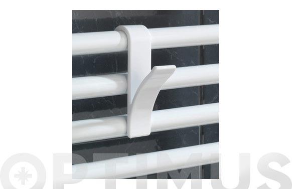 Colgador para radiador baño x 2ud blanco