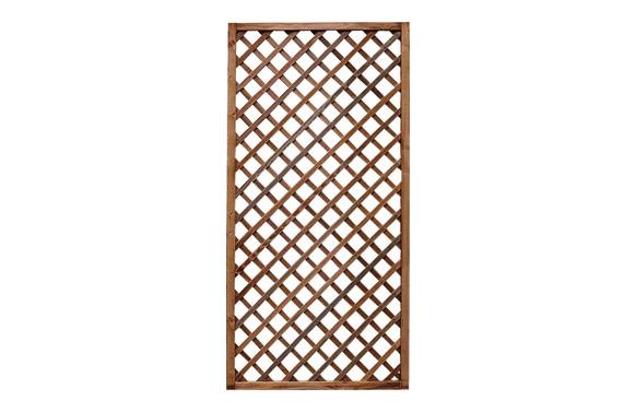 Celosia madera premices c/marco marron 90 x 180 (luz 6x6)