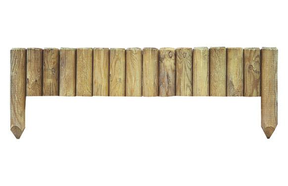 Bordura minivalla madera pinede 20 x 112 cm poste de fijacion 35 cm