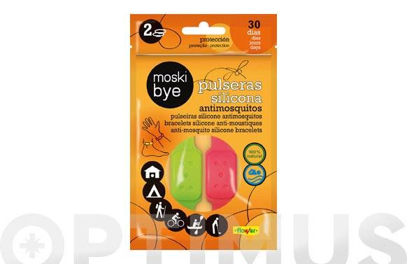 Pulsera silicona antimosquitos 2 unidades