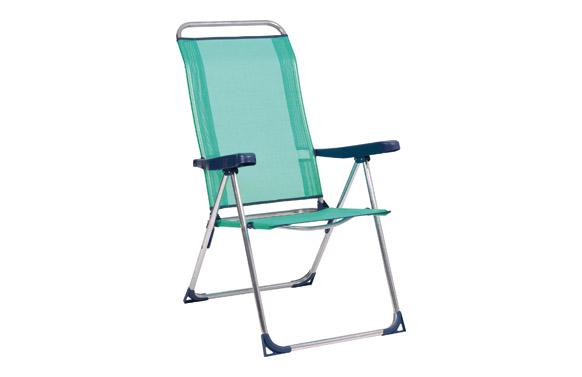 Silla posiciones aluminio playa fibreline azul