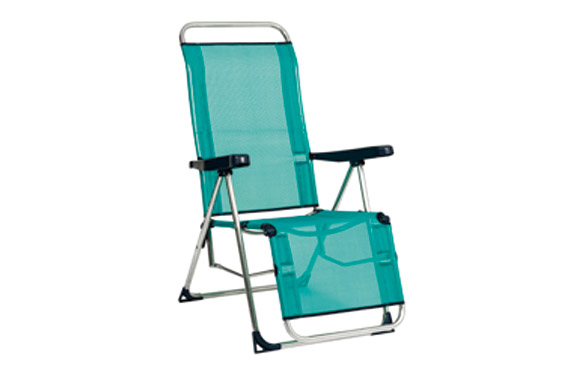 Sillon relax posiciones fibreline azul