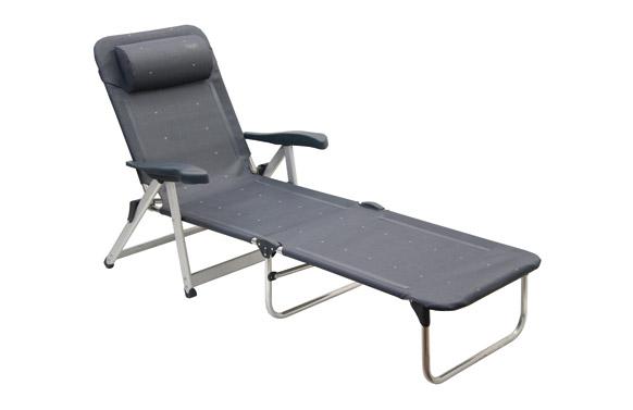 Cama aluminio reforzado plegable color 40 gris