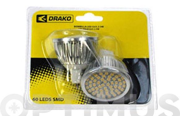 Led dicroica smd 60 (pack 2 unidades) mr16 5w luz calida (3300k)
