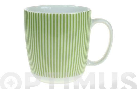 Mug porcelana ambit rayas verdes