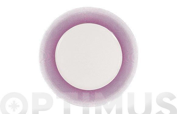 Plato hondo 23 porcelana decorado 12625-lila
