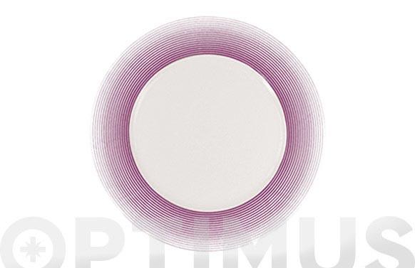 Plato postre 21 porcelana decorado 12625-lila