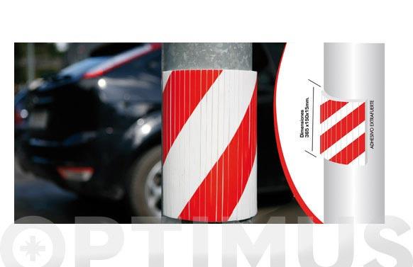 Protector parking estriado para columna redonda 390 x 320 x 10 mm
