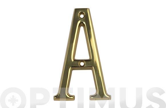 Placa 4 laton amig (bl) letra d