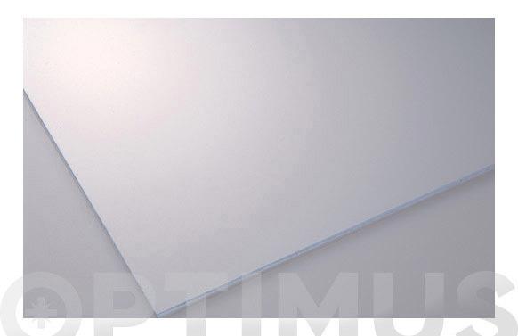 Placa poliestireno 2mm lisa transparente 25 x 50 cm