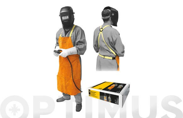 Delantal cuero soldador marron 378045217