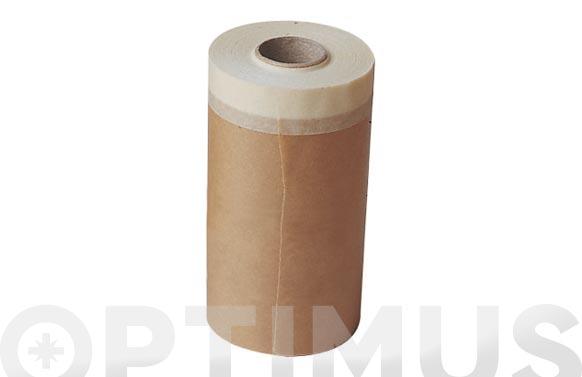 Papel kraft banda superior adhesiva 30 cm x 45 mts