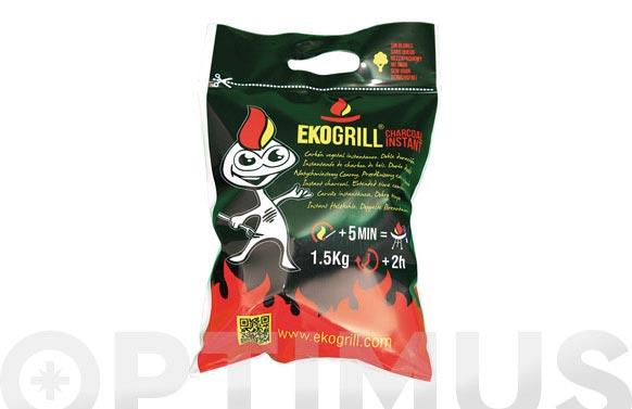 Carbon vegetal encendido rapido eco grill 1,5 kg