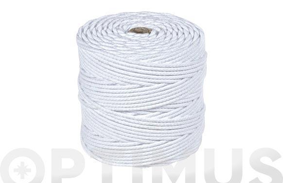 Cordon polipropileno alma texturada ø 4 mm 200 mt blanco