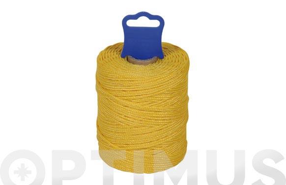 Hilo replanteo polipropileno trenzado ø 1,8 mm 50 mt amarillo