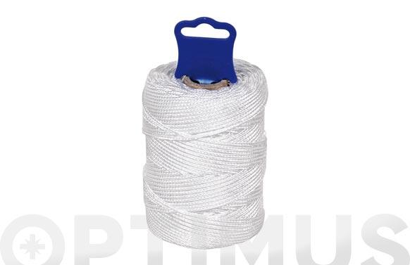Hilo replanteo polipropileno trenzado ø 1,8 mm 100 mt blanco